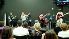 Students performing at 2011 Music & Rock School summer concert