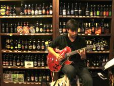 MaRS instructor John Westmoreland performs at the Beer Dispensary